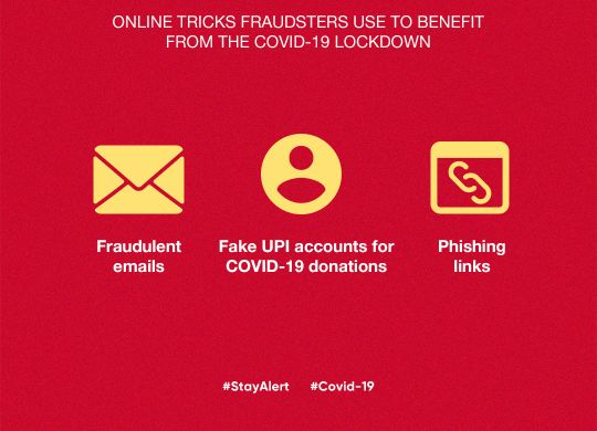 Online tricks fraudsters use to benefit from the COVID-19 lockdown
